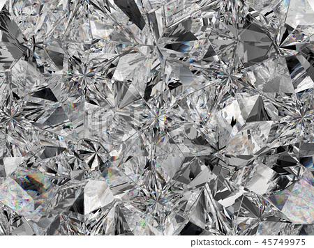 diamond structure extreme closeup and kaleidoscope 45749975