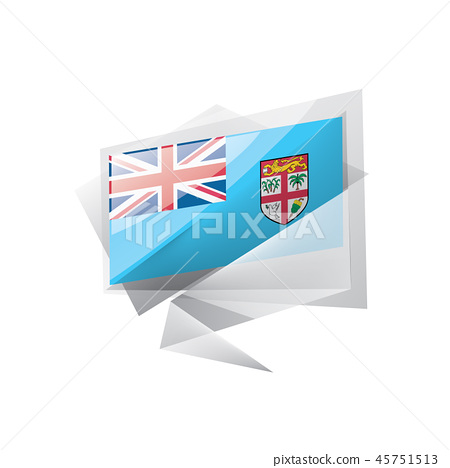 Fiji flag, vector illustration on a white background 45751513