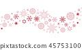 christmas snowflake red 45753100