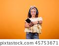 girl, headphones, person 45753671