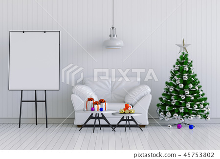 mock up poster frame Christmas interior room 45753802