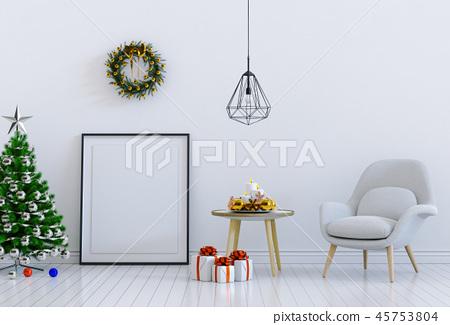 mock up poster frame Christmas interior room 45753804