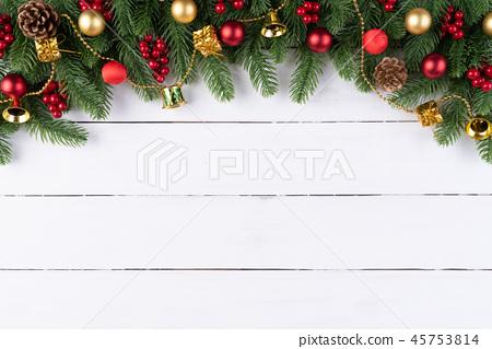 Christmas background decoration concept. 45753814