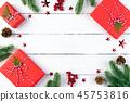 Christmas background decoration concept. 45753816