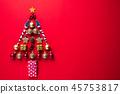 Christmas background decoration concept. 45753817