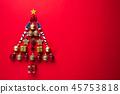 Christmas background decoration concept. 45753818