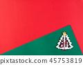 Christmas background decoration concept. 45753819