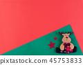 Christmas background decoration concept. 45753833