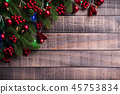 Christmas background decoration concept. 45753834