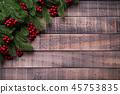 Christmas background decoration concept. 45753835