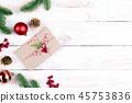 Christmas background decoration concept. 45753836