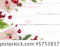 Christmas background decoration concept. 45753837