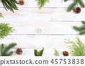 Christmas background decoration concept. 45753838