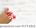 Boxing day concept with shopping bag and gift box 45753842