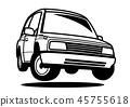 懷鄉國內輕的黑色帆佈著色樣式跳躍汽車例證 45755618