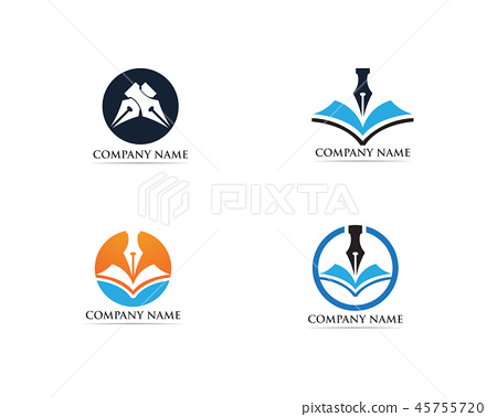 Writer pen Logo template Vector 45755720