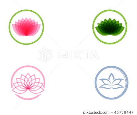Lotus flower logo and symbols vector template 45759447