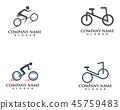 Bike logo and symbols vector 45759483