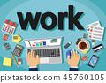 work, workspace, computer 45760105