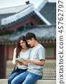 남성,여성, 경복궁, 서울, 고궁, 여행, 커플 45762797