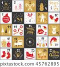 christmas calendar advent 45762895