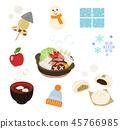 Winter warm food set 45766985