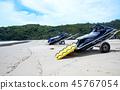 수상 오토바이 보르네오 섬의 해변 45767054