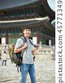 젊은남자, 남성, 경복궁, 서울, 고궁, 여행 45771349