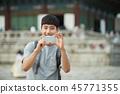 젊은남자, 남성, 경복궁, 서울, 고궁, 여행 45771355