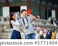 남성,여성, 경복궁, 서울, 고궁, 여행 45771404