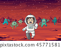 Astronaut And Monster 45771581