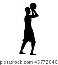 Basketball player throws a basketball Man 45772040
