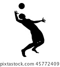 volleyball, ball, player 45772409