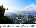 Man taking photo of a Hong Kong cityscape 45776085