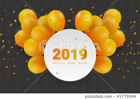 2019 Happy New Year or Christmas Background. 45776984