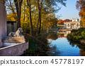 warsaw, palace, pond 45778197