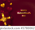 Valentines day holiday design. 45780062