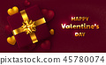 Valentines day holiday design. 45780074