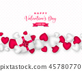 Valentines day holiday design. 45780770