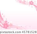 櫻花春天背景 45781528