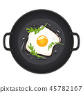 egg, breakfast, vector 45782167