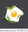 breakfast, egg, vector 45782173