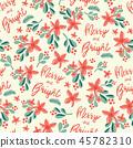 Christmas seamless vector pattern. 45782310