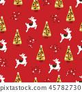 christmas reindeer pattern 45782730