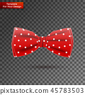 The bow tie On transparent Background 45783503
