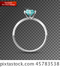 Silver wedding ring On transparent Background 45783538