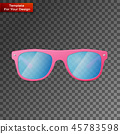 Pink Ladies Sunglasses On transparent Background 45783598