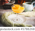 Lemon curd served in stemmed glass 45786268