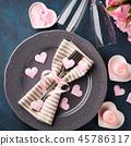 valentine, plate, flower 45786317