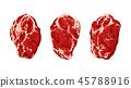 steaks on white 45788916